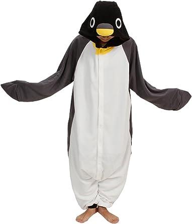 brlmall Unisex Pijamas de adultos negro gris pingüino Anime ...