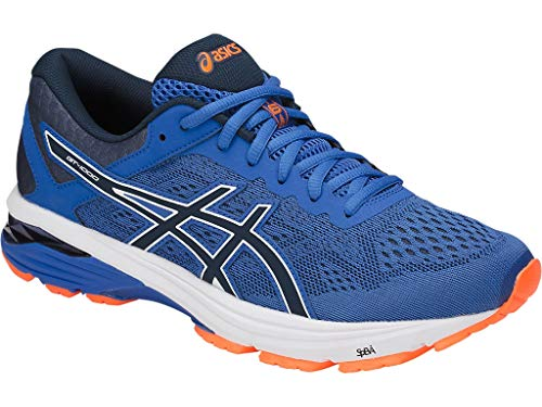 Shoe Running 6 Stability Control - ASICS Men's GT-1000 6 Running Shoes, 11.5M, Victoria Blue/Dark Blue/Shocking Orange