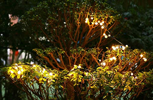 Globe Decorative String Lights,BaiYunPOY 8.3Ft 72 LED Hanging Indoor/Outdoor String Lights for Garden,Xmas Party,Bedroom,Dorm,Window Curtain Backyard,Party,Wedding(Warm White) by BaiYunPOY (Image #3)