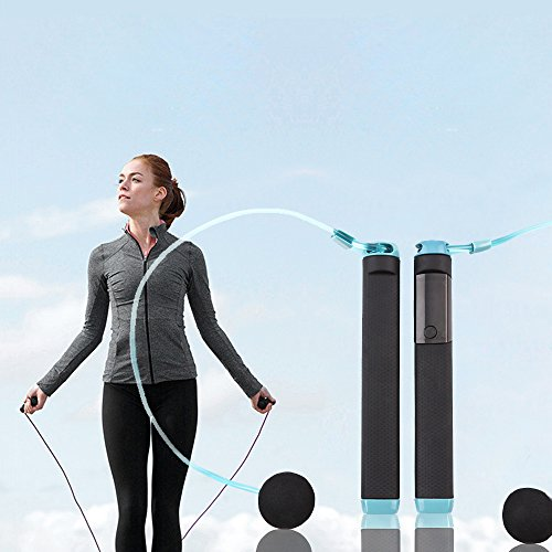 TOP YAO New Digital LED Fitness Smart Jump Rope Sports Exercise Tracker Pedometer Calorie Monitor Jumps Counter