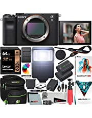 $1798 » Sony a7C Mirrorless Full Frame Camera Alpha 7C Interchangeable Lens Body Only Black ILCE7C/B Bundle with Deco Gear Case + Extra Battery + Flash + Filters + 64GB Card + Software Kit and Accessories