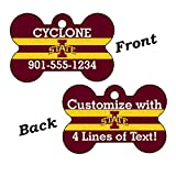 Iowa State Cyclones Double Sided Pet Id Dog Tag Personalized With 4 Lines of Text