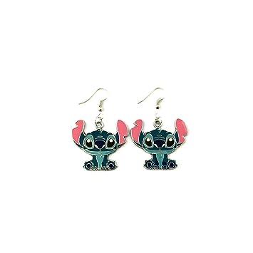 J&C - Pendientes colgantes con diseño de Lilo y punto de familia, regalo increíble para