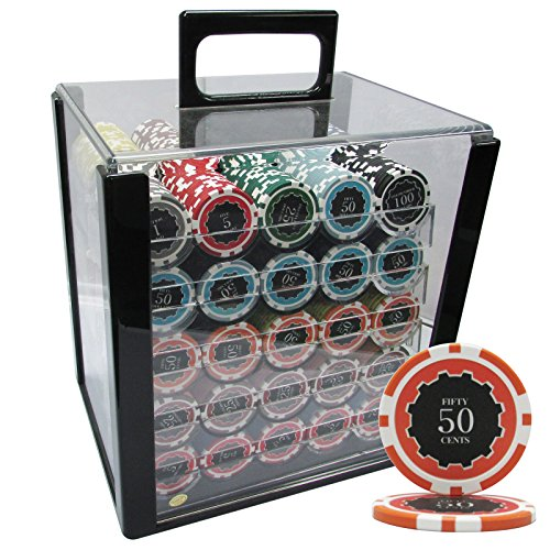 MRC 1000pcs Eclipse Poker Chips Set with Acrylic Case Custom Build by Mrc Poker