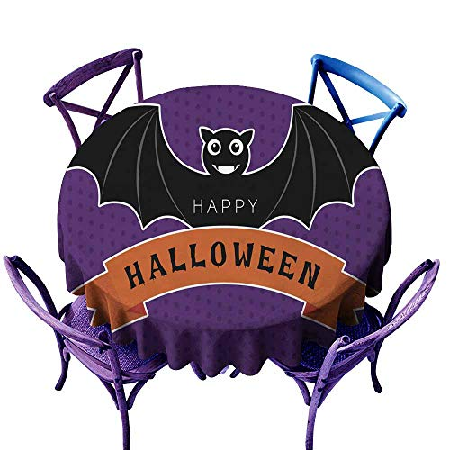 (AFGG Tablecloth for Kids/Childrens Halloween bat for Events Party Restaurant Dining Table Cover 40 INCH )