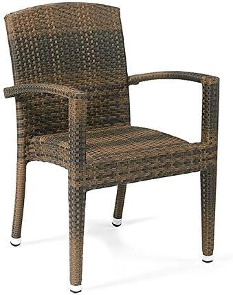 Conjunto 2 sillones ratán sintético Florencia Estilo Mimbre Trenzado de Alta Resistencia para jardín, terraza y Exterior … (Cafe): Amazon.es: Hogar