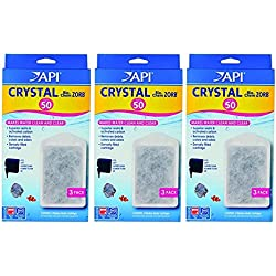 API Crystal Bio-Chem Zorb Filter Cartridges For Aquarium, Size 50 - 9 Total (3 Packs with 3 Filters each)
