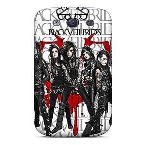 New Style Richardcustom2008 Black Veil Brides Premium Tpu Covers Cases For Galaxy S3