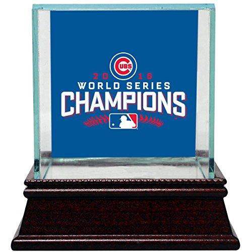MLB Chicago Cubs 2016 World Series Champions Logo Glass Baseball - Steiner Baseball Series World