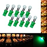 PA 10PCS #555 T10 1SMD LED Wedge Pinball Machine Light Side View Bulb Green-6.3V