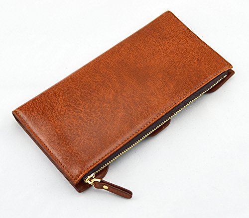 Pidengbao Women's Long Solid Zipper Hasp Clutch Wallet Dark Coffee by Pidengbao (Image #1)