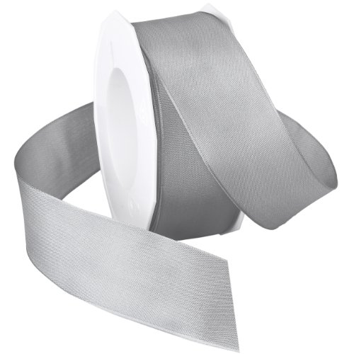 Tafetta Bow (Morex Ribbon Dream Wired Taffeta Ribbon Spool, 1-1/2-Inch by 22-Yard, Glacier Gray)