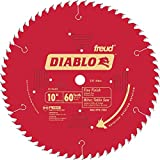 "Diablo D1060X 10"" 60T Diablo Fine Finish Work Chop Miter and Table Saw Bl"