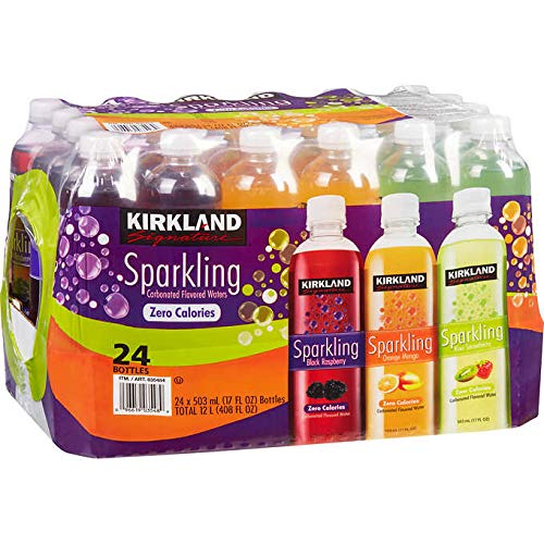 Kirkland Signature Flavored Sparkling Water Variety Club Pack - 24 ct. (17 oz.)