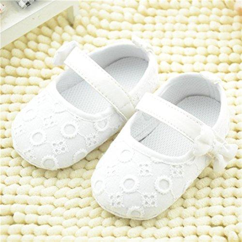 Fossen Pasos Blanco Niña Princesa Antideslizantes Nacido Zapatos Suela Blanda Recien De Bebe Primeros rSrIw