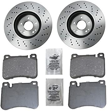 Front Axle BRAKE DISCS PADS for MERCEDES BENZ S-Class S600 2002-2005