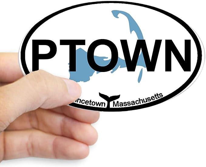 "prov Provincetown Massachusetts Oval car window bumper sticker decal 5/"" x 3/"""