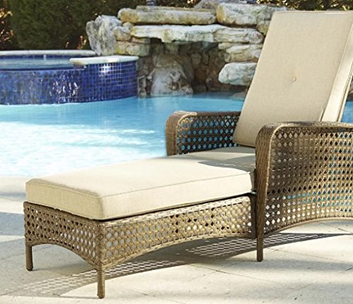 Edwards Chaise Lounge With Removable Cushion For Outdoor