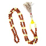 Healing Stone Necklace Citrine Mala Beads Rudraksha Prayer Beads Malas Yoga Jewelry