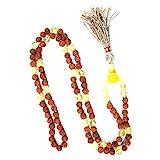 Healing Stone Necklace Citrine Mala Beads Rudraksha Prayer Beads Malas Yoga Jewelry