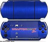 Sony PSP 3000 Decal Style Skin - Brushed Metal Blue (OEM Packaging)
