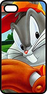 Bugs Bunny Playing Baseball Black Rubber Case for Apple iPhone 4 or iPhone 4s