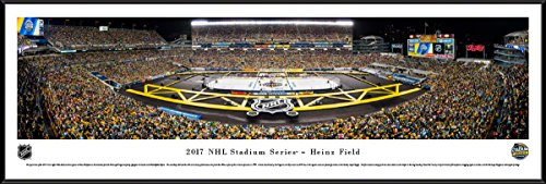 NHL 2017 Stadium Series (Penguins vs Flyers) - 40.25x13.75-inch Standard Framed Picture by Blakeway Panoramas ()