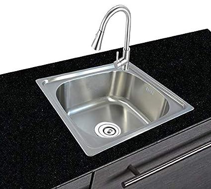 Lavello da cucina in acciaio inox 304, rettangolare, da incasso ...