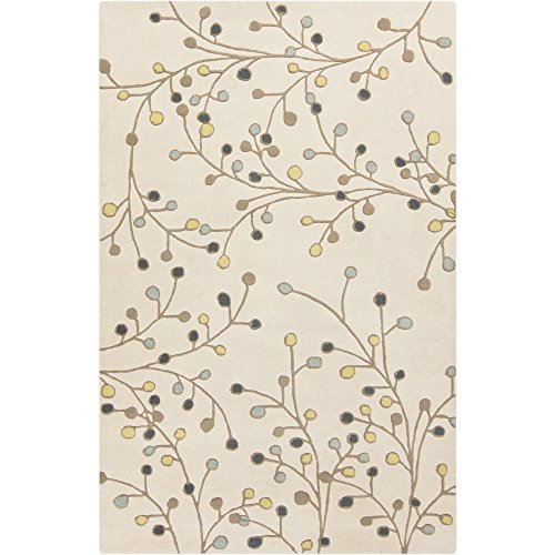 Surya Athena ATH-5116 Hand Tufted Wool Floral and Paisley Area Rug, 6-Feet by 9-Feet