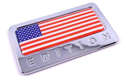 USA Edition with American Flag Chrome Emblem 3D decal Car bike Badge