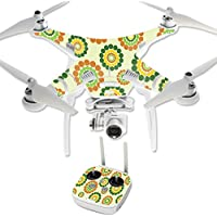 Skin For DJI Phantom 3 Professional – Hippie Flowers | MightySkins Protective, Durable, and Unique Vinyl Decal wrap cover | Easy To Apply, Remove, and Change Styles | Made in the USA