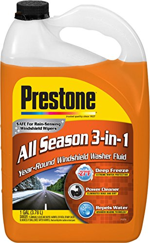 (Prestone AS658 Deluxe 3-in-1 Windshield Washer Fluid, 1 Gallon)