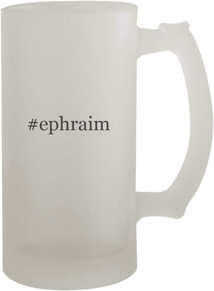#Ephraim - 16Oz Frosted Beer Mug Stein, Frosted