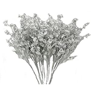 12 Silver Baby'S Breath Spray Silk Wedding Flowers Gypsophila Centerpieces 63