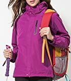 Winter Jacket for woman 3 in 1 Waterproof Windproof Fleece Ski Jacket Outdoor Snow Jacket Windbreaker, Couple Suit, Outdoors Sports Waterproof Jacket for Hiking, Skiing, Climbing, Daily Wearing