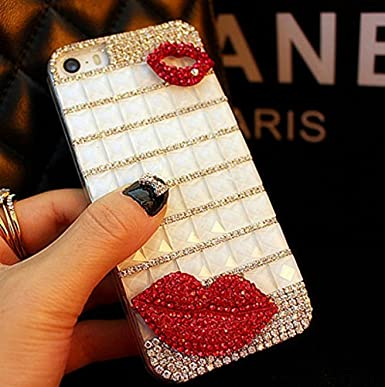 white case & red kiss