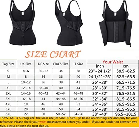 Miss Moly Womens Waist Trainer Sauna Suits Yoga Zip Shapewear Vest Underbust Corset For Weight Loss