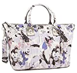 GUESS Women's Keegan Satchel Blue Floral Handbag