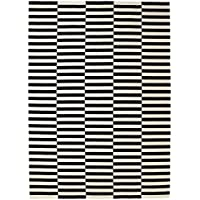 Ikea Rug, flatwoven, black handmade stripe, off-white stripe black/off-white 8 2 x11  6  2024.2118.2218