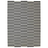 Ikea Rug, flatwoven, black handmade stripe, off-white stripe black/off-white 8 '2 ''x11 ' 6 '' 2024.2118.2218