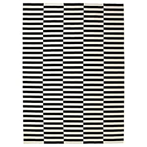 Amazon Com Ikea Rug Flatwoven Black Handmade Stripe