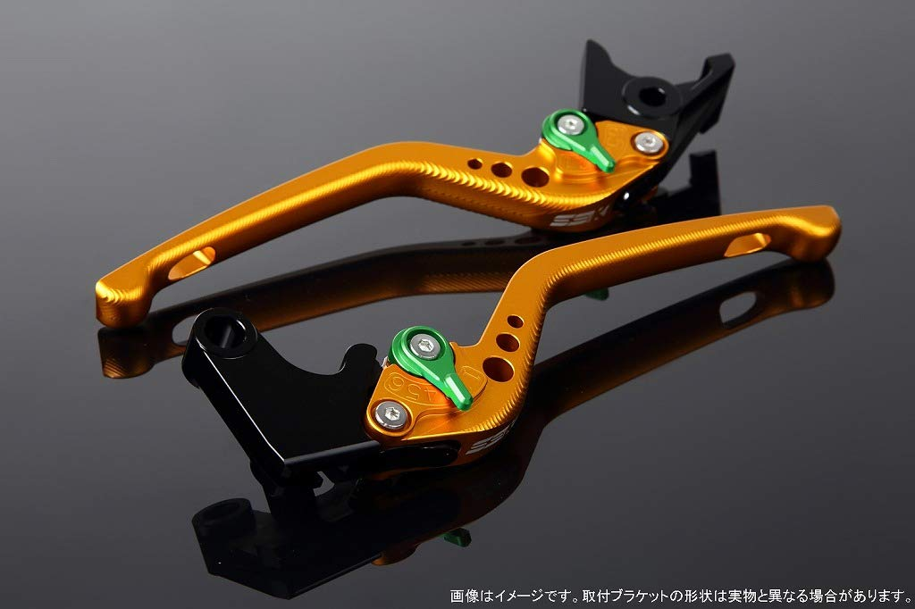 SSK アジャストレバー 3Dロング レバー本体カラー:マットゴールド アジャスターカラー:マットグリーン B07MXCPL5W