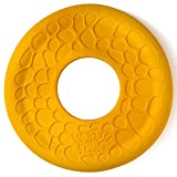West Paw Zogoflex Air Dash Durable Dog Frisbee Nearly Indestructible Flying Disc Dog Toy, 100% Guaranteed Tough, It Floats!, Made in USA, Large, Dandelion