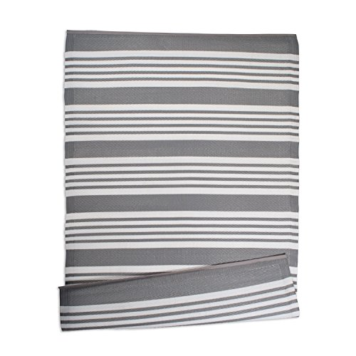 DII Contemporary Indoor/Outdoor Lightweight Reversible Fade Resistant Area Rug, Great For Patio, Deck, Backyard, Picnic, Beach, Camping, & BBQ, 4 x 6', Gray Multi ()