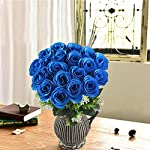 XYXCMOR-Artificial-Flower-Bouquet-18-Heads-Silk-Roses-Bridal-Home-Garden-Office-Dining-Table-Wedding-Decor-Blue
