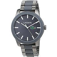 Lacoste Pinnacle Silver Silicone Japanese Quartz Fashion Mens Watch
