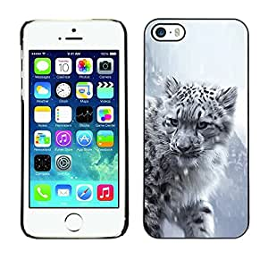 LECELL -- Funda protectora / Cubierta / Piel For Apple iPhone 5 / 5S -- Majestic Snow Panther Tiger Lion --