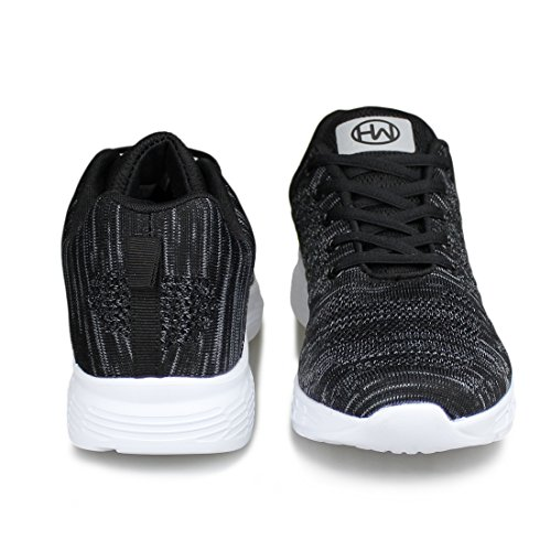 Athletic Hawkwell Walking Shoes 1951 Women's Running Breathable Knit Sneaker Lightweight black 1r1Yqw