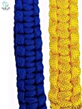 Paracord handle for Hydro Fask Nalgene. (Blue and Yellow) COMBO PACK