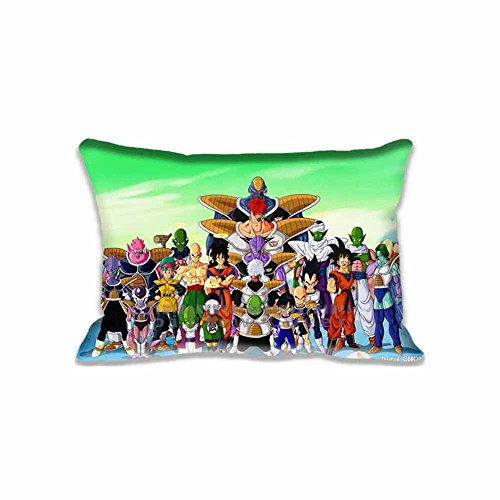 Dragon Ball Z Throw Pillow Covers - Cartoons Cotton Zippered Cushion Case with Printed Photo, Pillowcases (Cute Z Cute Robot compare prices)
